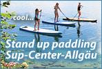 SUP Center Allgäu aus Immenstadt bietet SUP Touren und Stand up Paddling Kurse